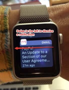 how to dismiss apple watch notifications