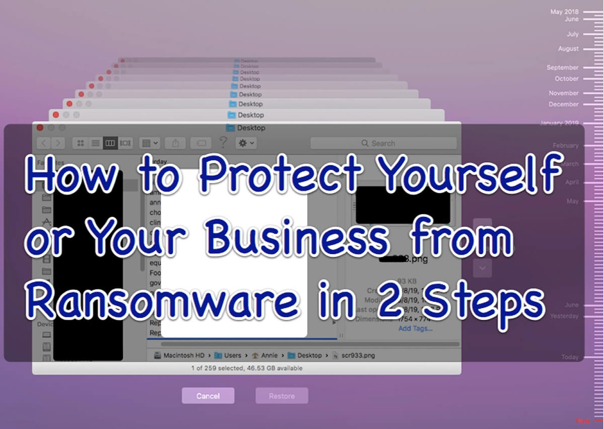 how to protect yourself or your business from ransomware in 2 steps