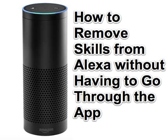 how to remove skills from alexa echo amazon