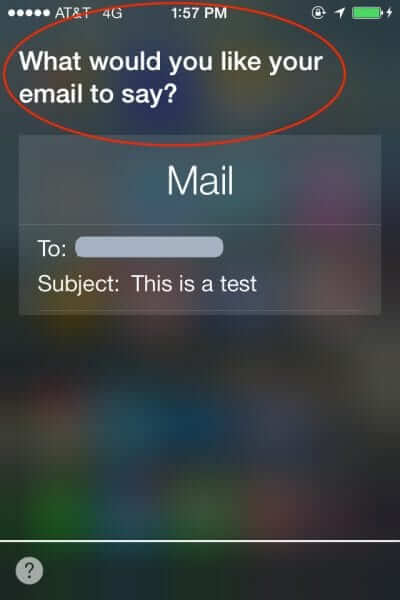 how to send email with siri