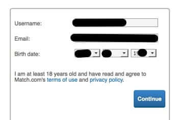 how to change age birthday username email address match match.com
