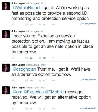 john lagare responses alternative option experiance tmobile hack