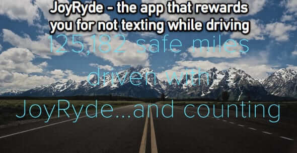 joyryde joyride joy ride texting driving app