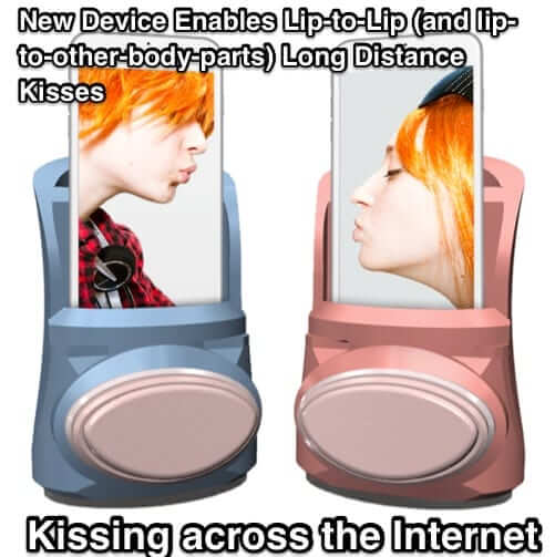 kissinger kissenger internet kissing device iphone