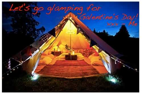 lets go glamping for galentines day