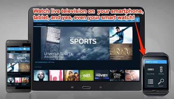 live television smartphone tablet watch