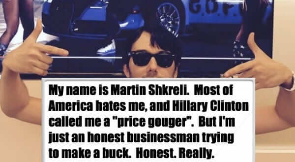 martin shkreli trying to make a buck