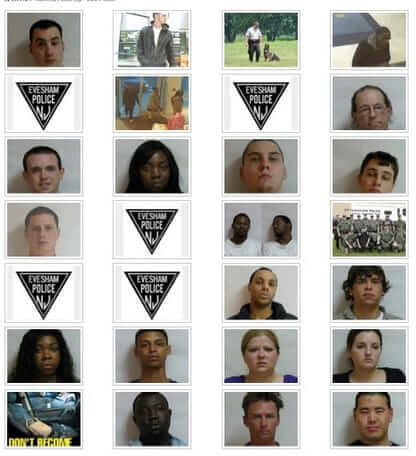 new jersey police department posts mugshots