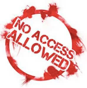 no access allowed