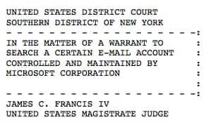 nysd microsoft warrant ireland caption