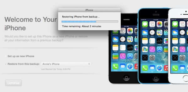 restoring iphone from backup