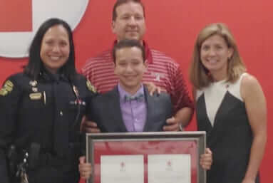 sam steve latham saves fathers life red cross app