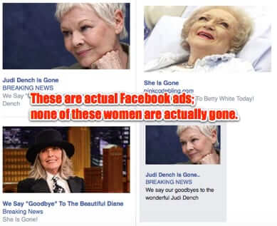 she is gone facebook ads