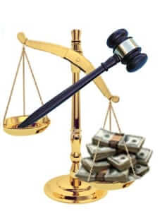scales gavel money