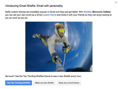Gmail Introduces Shelfie for April Fools Day