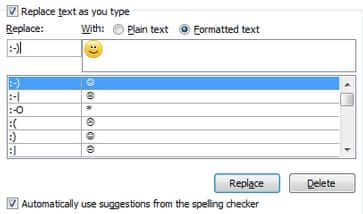 smiley face j outlook