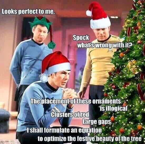 star trek crew christmas tree