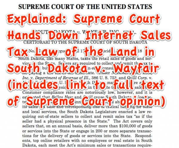 supreme court internet sales tax wayfair south dakota-1