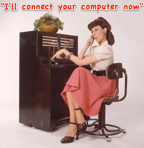 switchboard operator connect computer