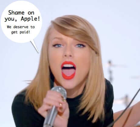 taylor swift tells off Apple