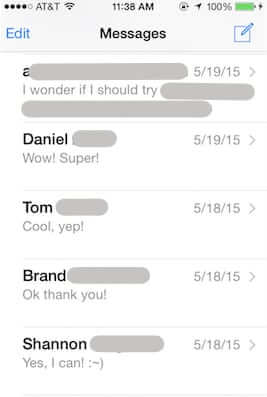 text messages iphone