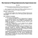 the iot internet of things cybersecurity improvement act