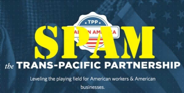trans pacific partnership tpp spam