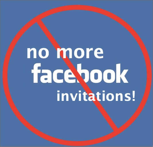 turn off facebook invitations