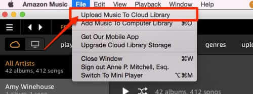 upload itunes music to amazon cloud library