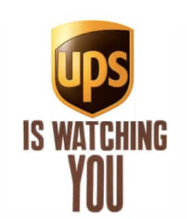 ups is watching you