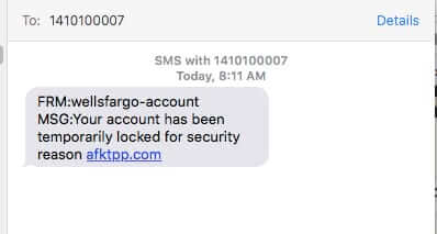 wells fargo scam message